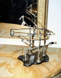 Antique Silver Plate Wine Decanting Stand