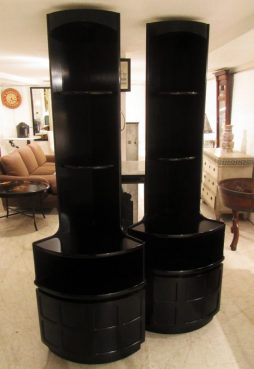 Mid-Century Pair of Corner Cabinets