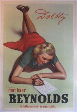 Reynolds Advertising Poster by Artist J Bousquet