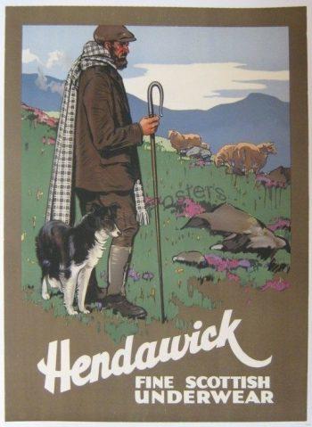 Antique Hendawick Scottish Underwear Poster