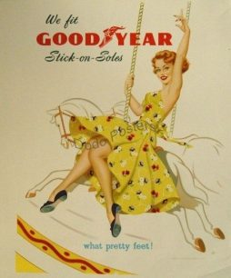 Vintage Goodyear Advertising Stick-on-Soles Dress