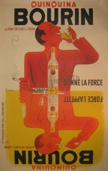Antique Bourin Advertising Poster By Artist Bellenger