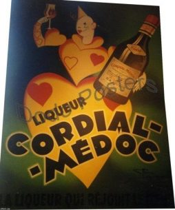 Antique Cordial Medoc Advertising Poster by Henri de Monnier