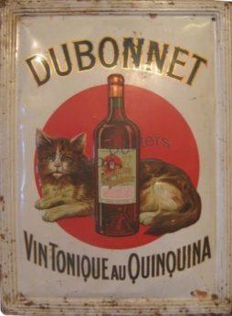 Antique Advertising Tin Sign Dubonnet Vin Tonique