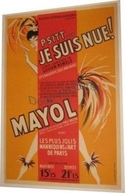 Vintage Mayol Theatre Cabaret Poster