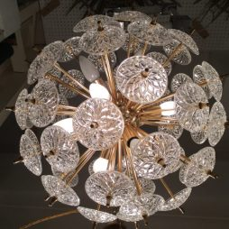 Mid-Century Chandelier Ball Light