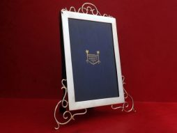 Antique Sterling Silver Hamilton and Co Picture Frame with Silver Swirl Leg Design - POA