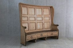 Antique 18th Century West Country Pine and Elm Settle - POA