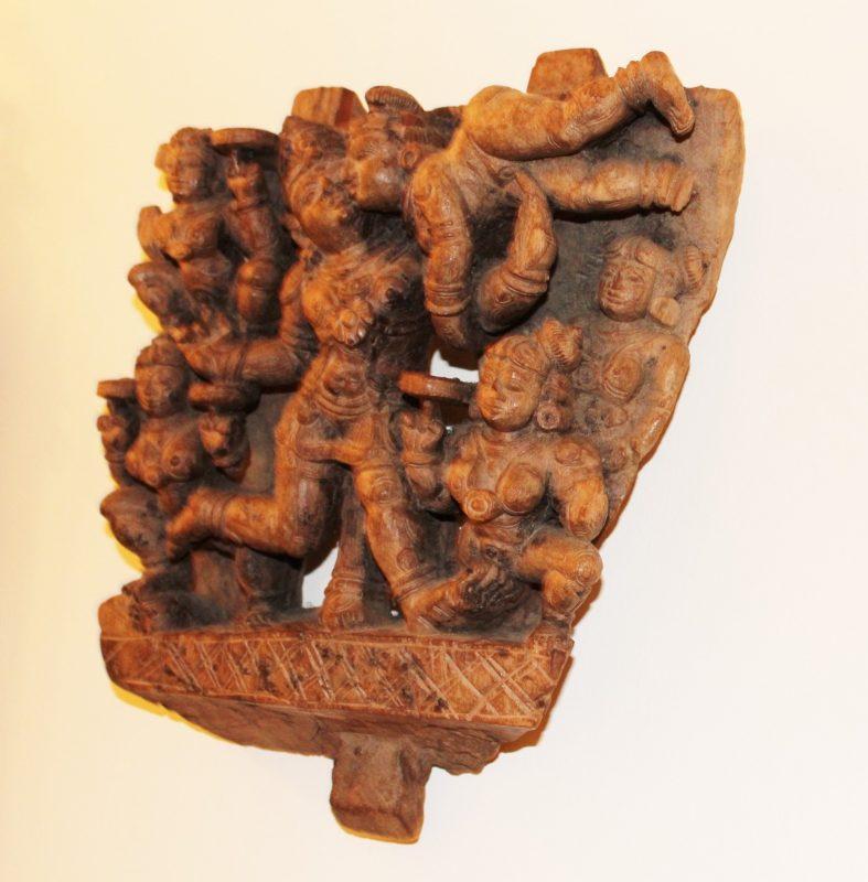 Antique 19th Century Erotic Indian Wood Carving Interior