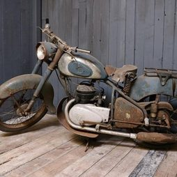 Classic 1950s French Peugeot Motorcycle