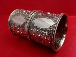 Pair of Antique Sterling Silver Napkin Rings