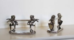 Pair of Antique Silver Plated Knife Rests