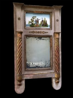 Early 19th Century Antique Trumeau Mirror