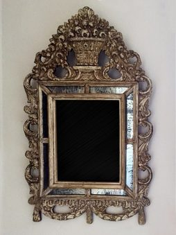 Small Antique 17th Century Dutch Mirror