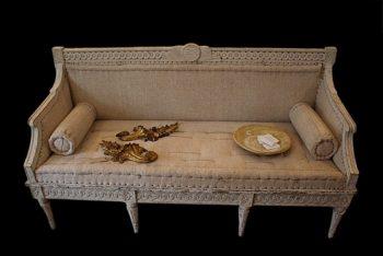 Antique 19th Century Swedish Tragsofa Sofa