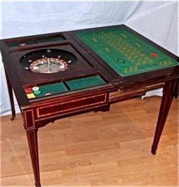 Antique Roulette Games Table