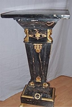 Empire Style Marble Pedestal