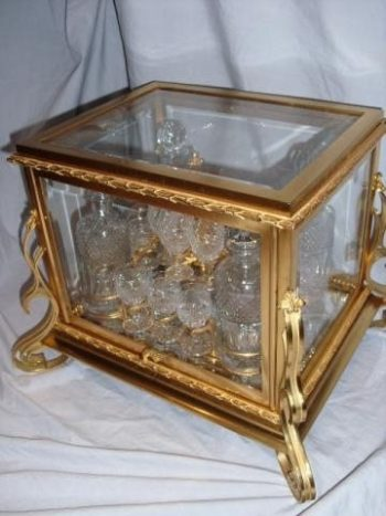 Antique Gilt Bronze Cave-a-Liqueur