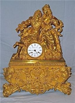 Antique Large Ormolu Clock
