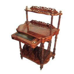 Antique Victorian Secretaire Portfolio Stand-Whatnot