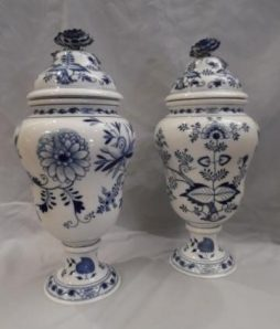 Antique Pair of Meissen Vases