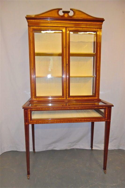 Antique Edwardian Vitrine Cabinet
