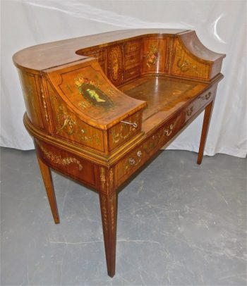 Antique Painted Satinwood Carlton House Desk