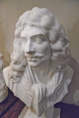 Antique 19th Century Marble Bust of Moliere