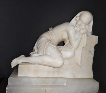 A French Alabaster Sculpture of Cleopatra