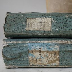 Pair of French Antique Books dated 1837 One Elemens D'Algebre the other Precis de Geometrie Elementarie