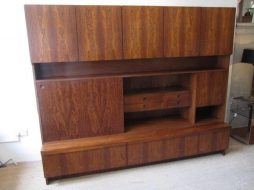 Mid-Century Rosewood Bookcase Cabinet