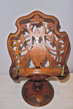 Antique Victorian Walnut Table Book Stand