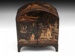 Antique Japanned Sewing Cabinet