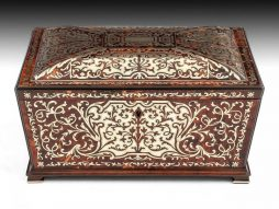 Antique English Boulle Sewing Box by Edwards
