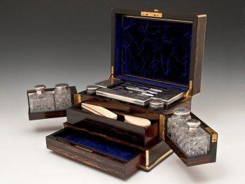 Antique Parkins & Gotto Silver Vanity Box