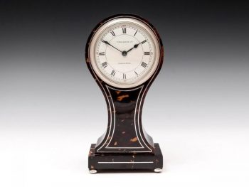 Antique Tortoiseshell Mantel Clock