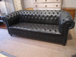 Mid-Century Leather Chesterfield Sofa