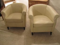Antique Pair of Art Deco Leather Armchairs