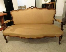 Antique English Walnut Settee