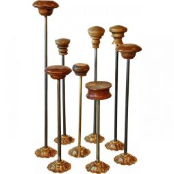 Collection of 8 Antique Hat Stands from a Shop