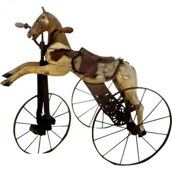 Antique 19th Century Childs Horse Tricycle from France