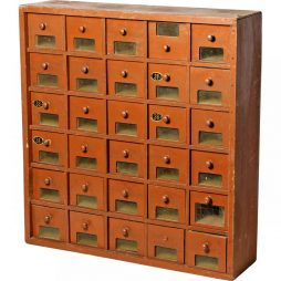 Small Bank of Antique Drawers from a French Shop