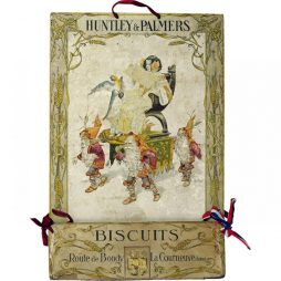 Antique Huntley and Palmers Advertising Showcard