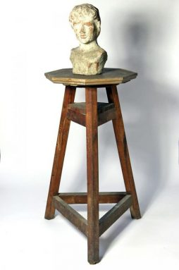 Antique Wooden Sculptors Stand from France