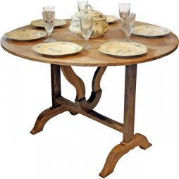 Antique Wine Harvest Folding Table from France