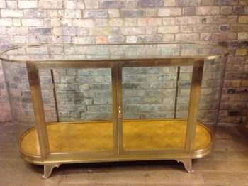Bespoke Brass Bow Shop Display Cabinet  - POA
