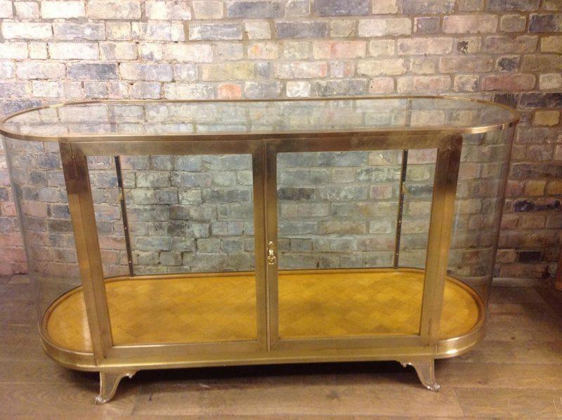 Bespoke Brass Bow Shop Display Cabinet ... - Bespoke Brass Bow Shop Display Cabinet – POA Interior Boutiques