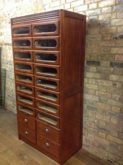 Bespoke Habedashery Mahogany Display Cabinet - POA