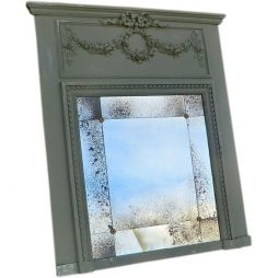 Antique French Trumeau Overmantel Mirror