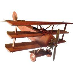 Large Red Vintage Triplane Model